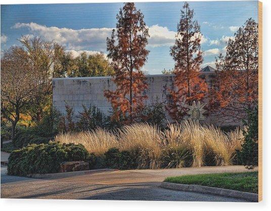 Autumn At Fort Worth Botanic Gardens Wood Print