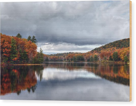 Autumn At Spectacle Pond Wood Print