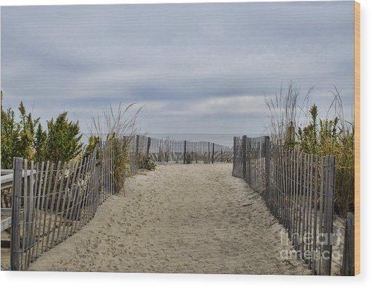 Autumn At The Beach Wood Print