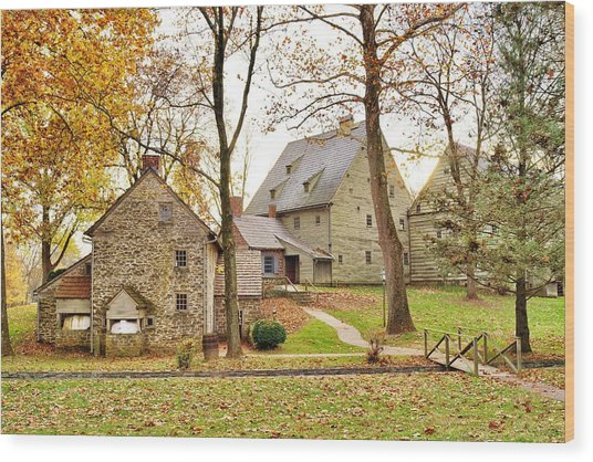 Autumn At The Cloister Wood Print
