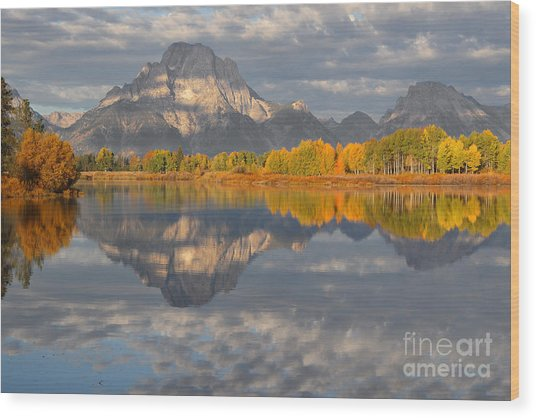 Autumn At The Oxbow Wood Print