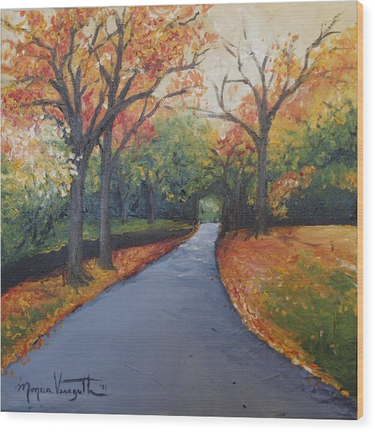 Autumn At Woodlawn Wood Print by Monica Veraguth