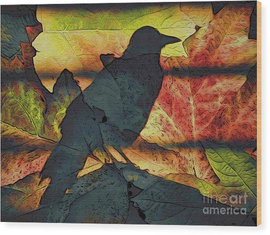 Autumn Bird Wood Print