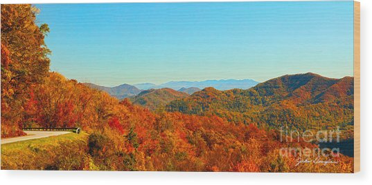Autumn Blue Ridge Wood Print