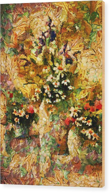 Autumn Bounty - Abstract Expressionism Wood Print