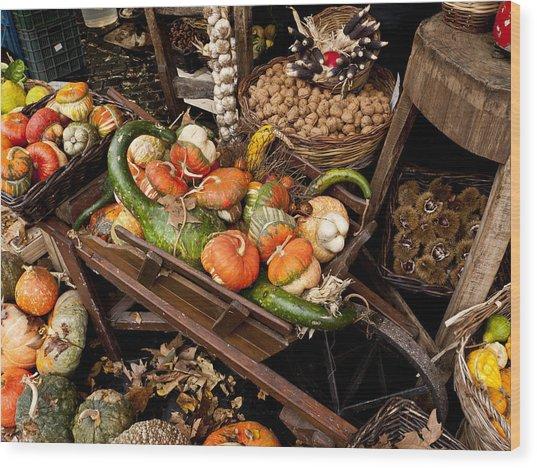 Autumn Bounty Wood Print by Rae Tucker