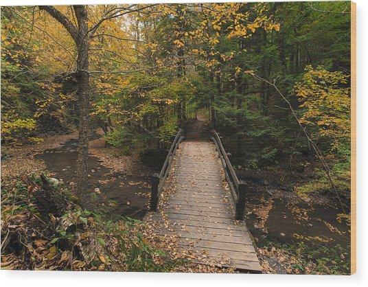 Autumn Bridges. Wood Print