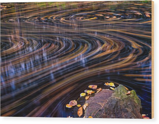 Autumn Chaos Wood Print