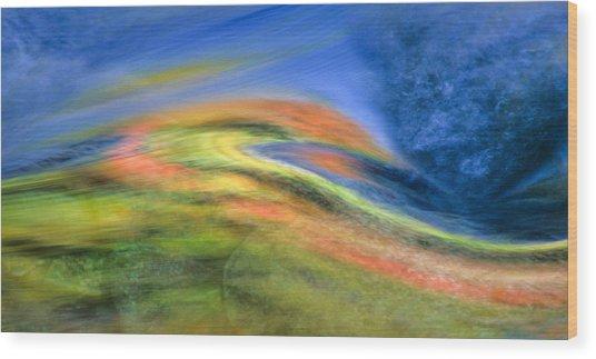 Autumn Color Swirl Wood Print