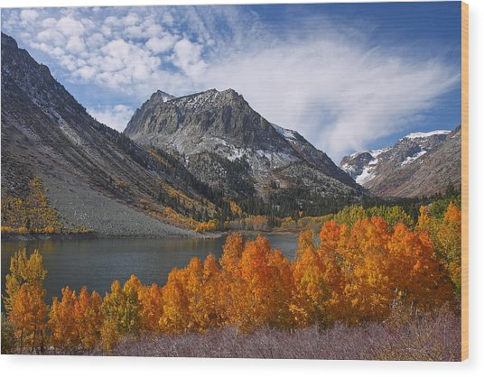 Autumn Colors In The Eastern Sierra's Lundy Canyon Wood Print
