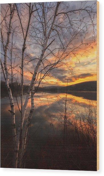 Autumn Dawn Wood Print