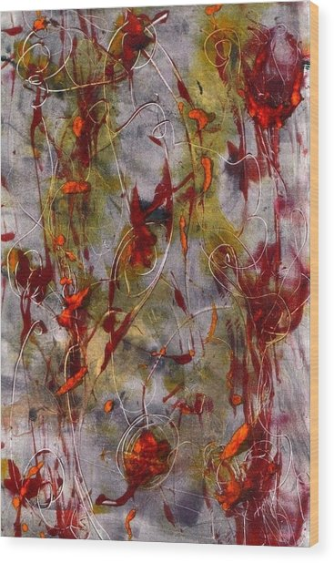 Autumn Faeries Wood Print