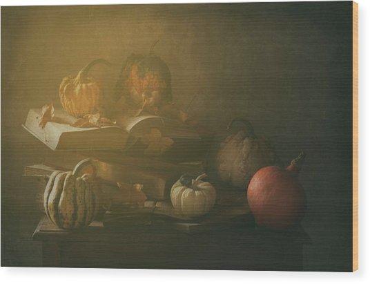Autumn family Portrait Wood Print