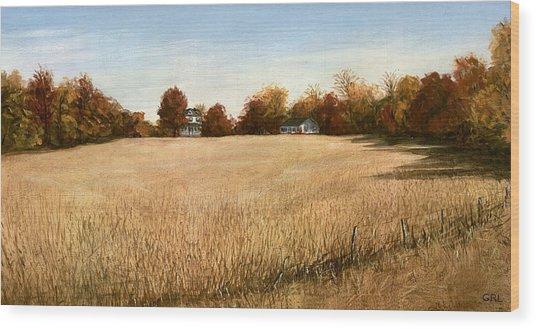 Autumn Field Southern Maryland Wood Print