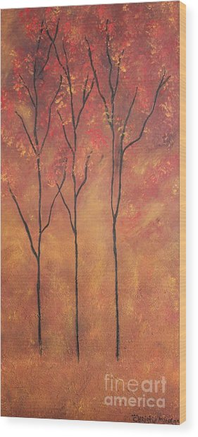 Autumn Fire Wood Print