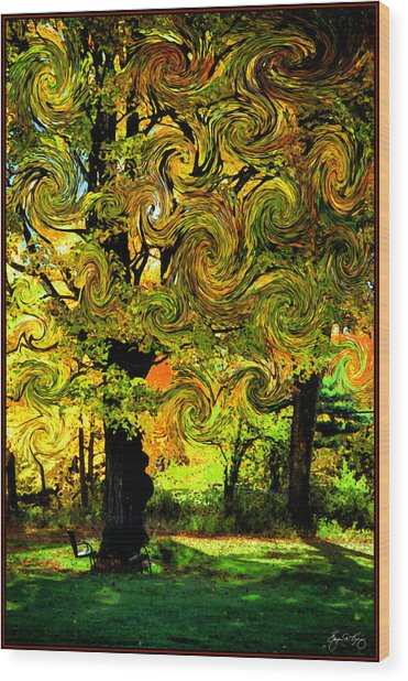 Autumn Firestorm Wood Print