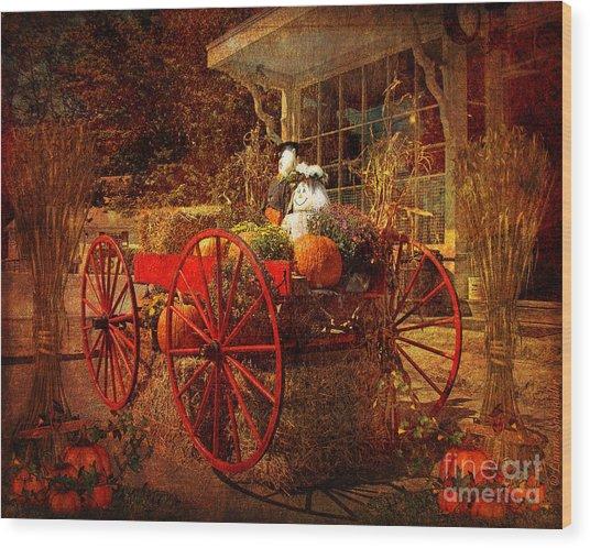 Autumn Harvest At Brewster General Wood Print