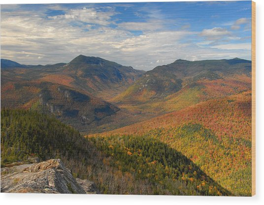 Autumn In Crawford Notch Wood Print by Ken Stampfer