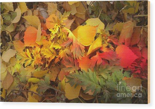 Autumn Masquerade Wood Print