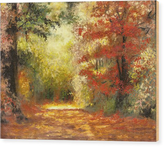 Autumn Memories Wood Print
