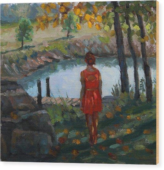 Autumn On Jug Creek Wood Print