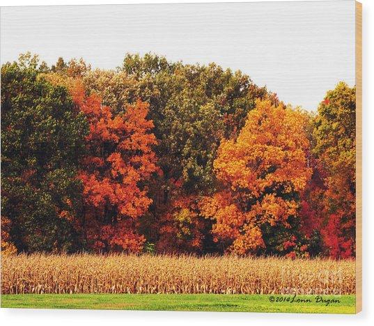 Autumn On The Farn Wood Print by EGiclee Digital Prints