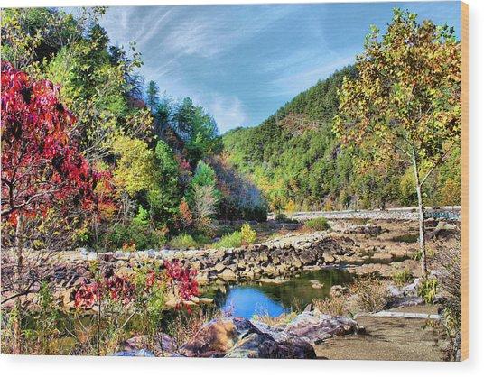 Autumn On The Ocoee Wood Print