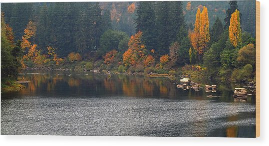 Autumn On The Umpqua Wood Print
