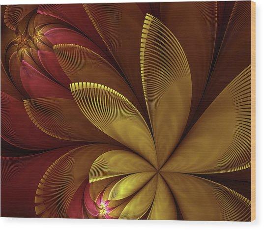 Autumn Plant Wood Print
