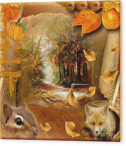Autumn Scrap Wood Print