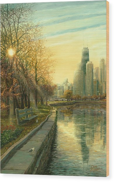 Autumn Serenity II Wood Print