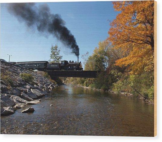Autumn Steam Wood Print