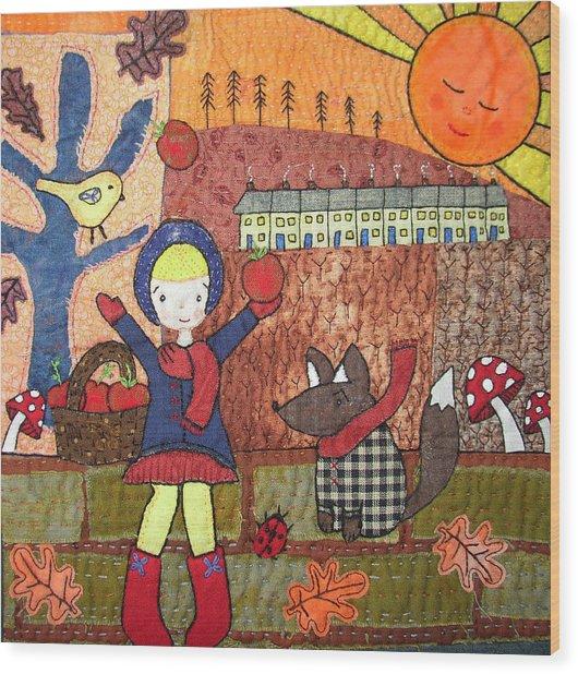 Autumn Sunset Wood Print by Julie Bull