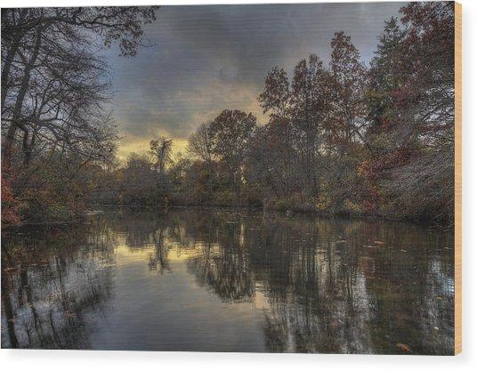 Autumn Sunset On West Brook Pond Wood Print