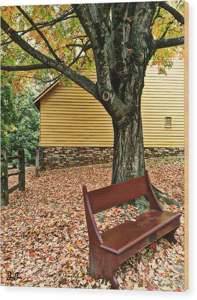 Autumn Wait Wood Print