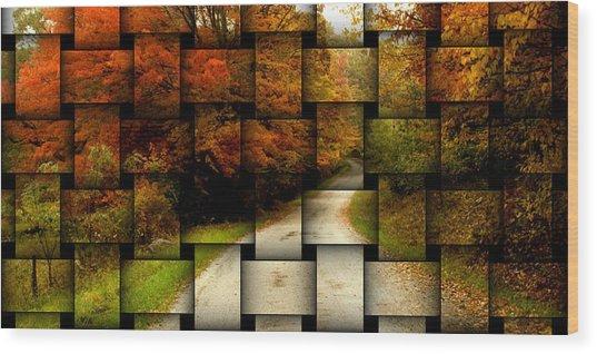 Autumn Weave Wood Print