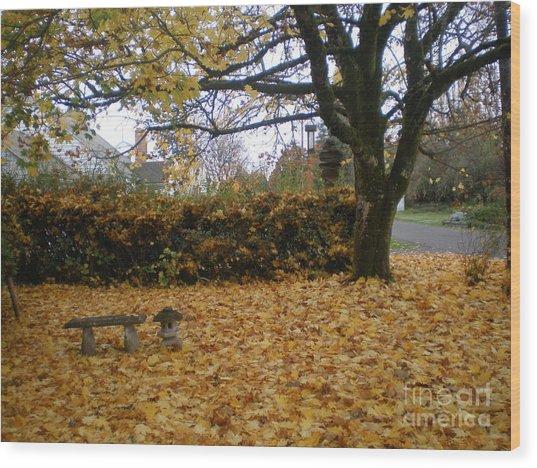 Autumn Zen Wood Print