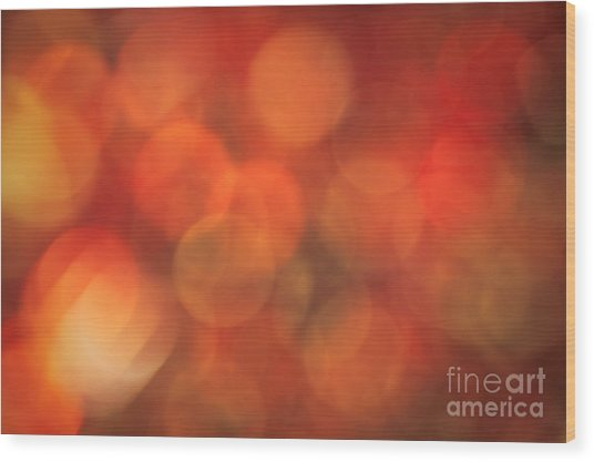 Autumnal Amber Wood Print