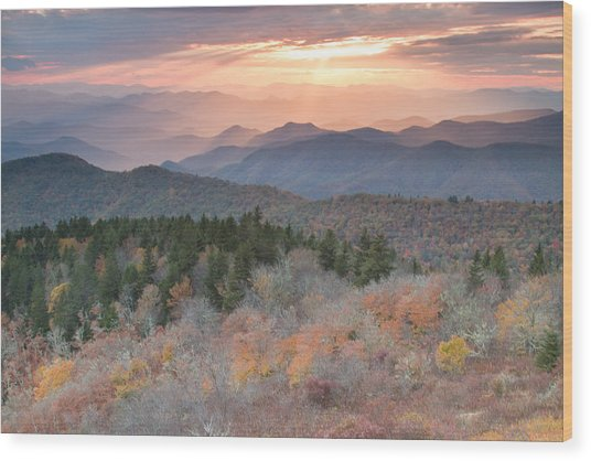 Autumn's Resplendence Wood Print by Doug McPherson