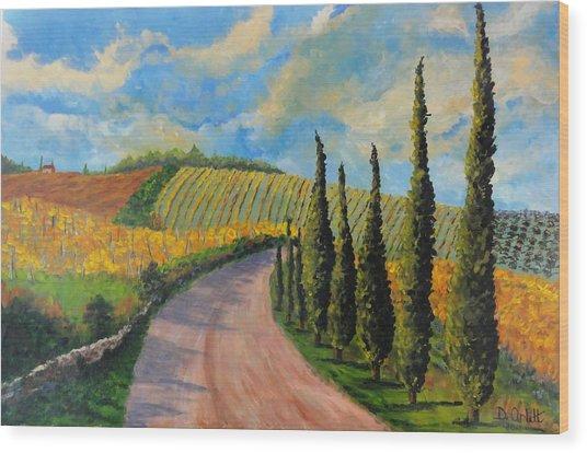 Autunno Toscano Wood Print