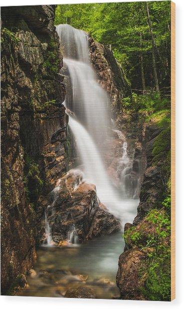 Avalanche Falls Wood Print by John Crookes