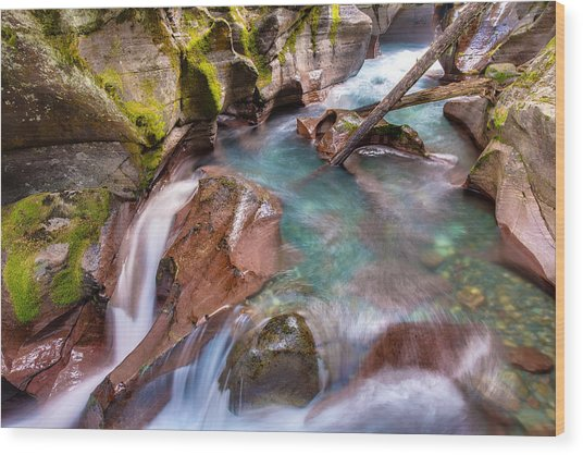 Avalanche Gorge 4 Of 4 Wood Print