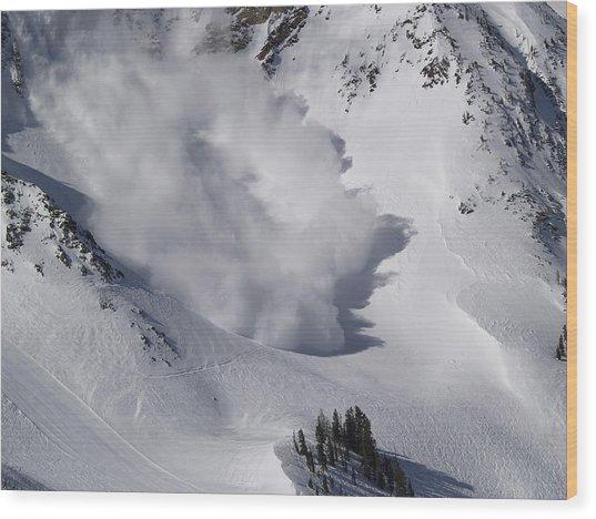 Avalanche Iv Wood Print