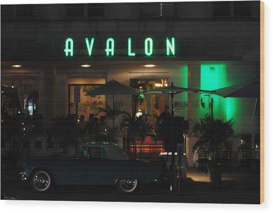 Avalon Hotel Wood Print