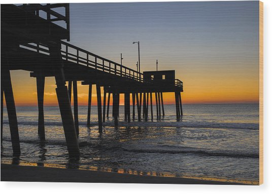 Avalon Pier Wood Print
