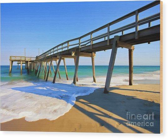 Avalon Pier Wood Print