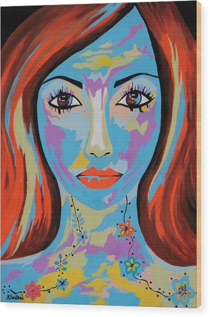 Avani - Contemporary Woman Art Wood Print