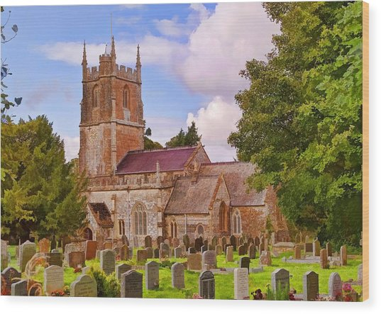 Wood Print featuring the photograph Avebury Church -1 by Paul Gulliver