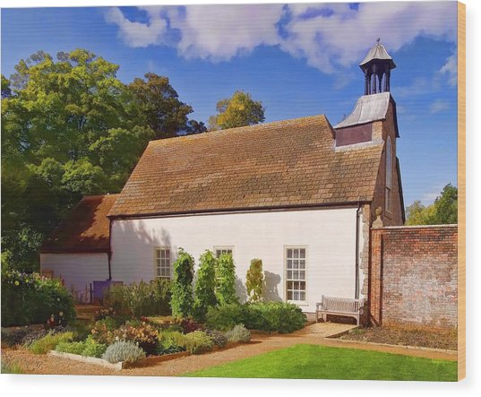 Wood Print featuring the photograph Avebury Garden -1 by Paul Gulliver
