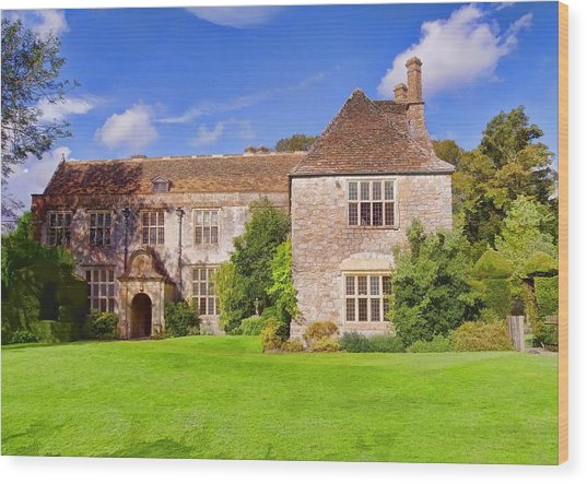 Wood Print featuring the photograph Avebury Manor -2 by Paul Gulliver